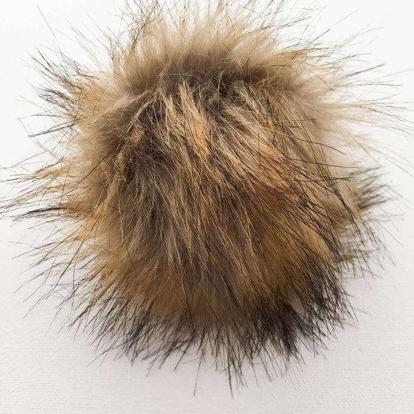 Snap-On Faux-Fur Pompom