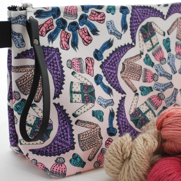 Kaleidoscope Knits Project Bag for Knitters - Rose Colourway