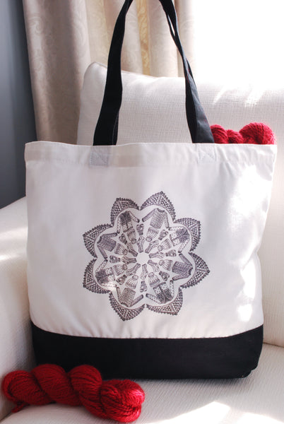 Kaleidoscope Knits Tote Bag for Knitters