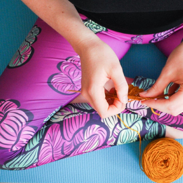 Knitting is My Yoga Leggings - Hallelujah! (It's Raining Yarn)