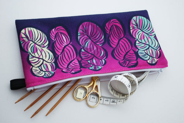 Hallelujah! (It's raining yarn) Zippered Notion Bag