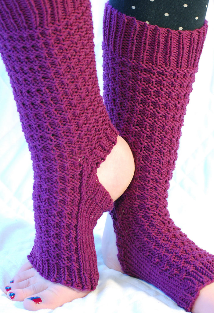 Yoga Socks Patterns (PDF) - Knitting Patterns by Phibersmith Designs