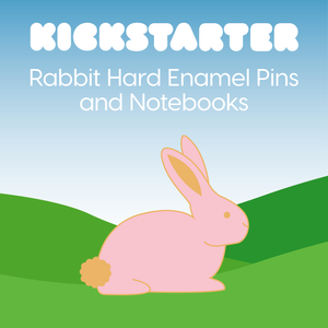 The Treasured Kickstarter Project for Rabbit Enamel Pins and Notebooks