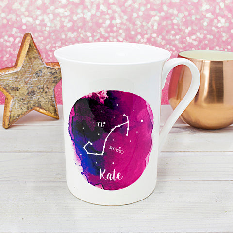 Personalised Watercolour Star Sign Mug from The Treasured