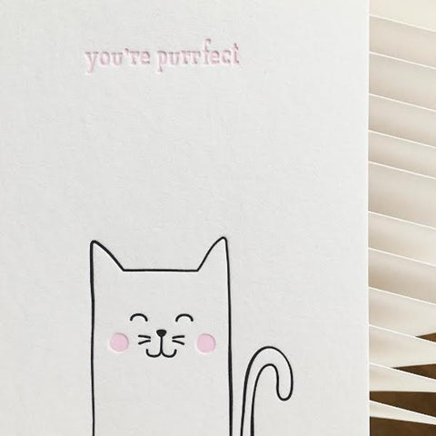 Sarah and Maude You're Purrfect Cat Card