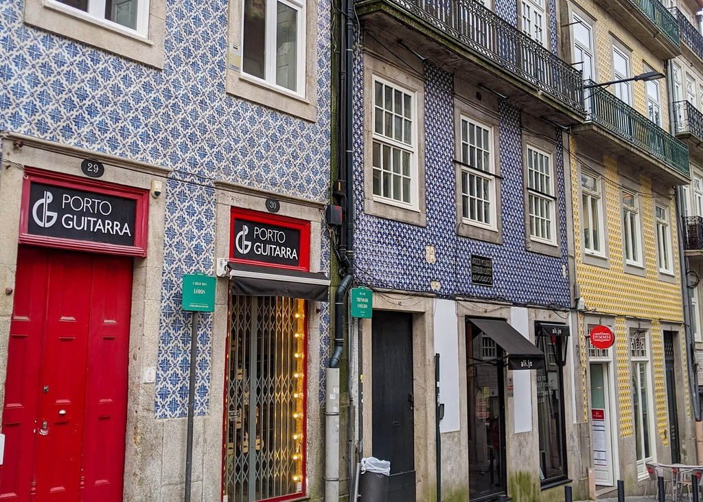 Colourful Buildings in Porto, Portugal