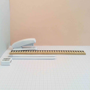 Zig Zag 30cm Ruler - Black - The Treasured