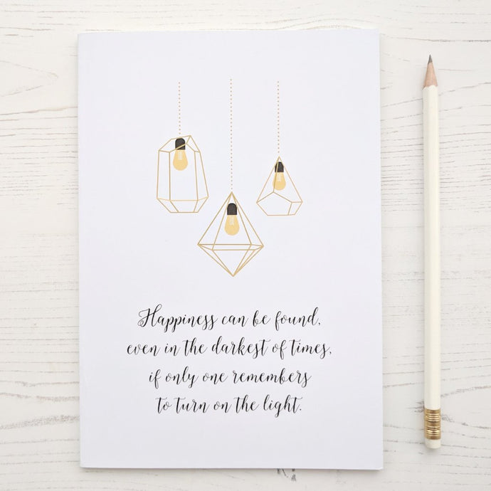 Harry Potter 'Happiness' Dumbledore Quote Notebook - The Treasured