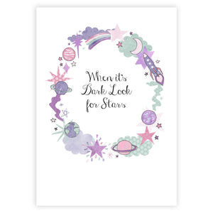 Look for Stars Inspirational Print - The Treasured