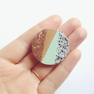 Mint Party Brooch - The Treasured