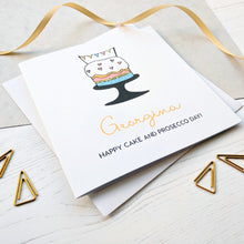 Personalised Cake and Prosecco Birthday Card - The Treasured