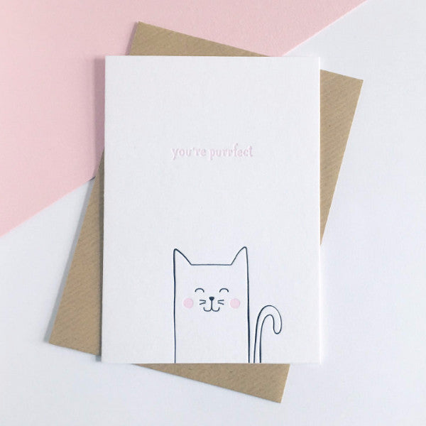 You're Purrfect Cat Card - The Treasured