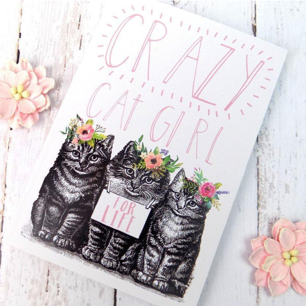 Crazy Cat Girl Notebook