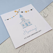 Cute Christening Day Card - The Treasured