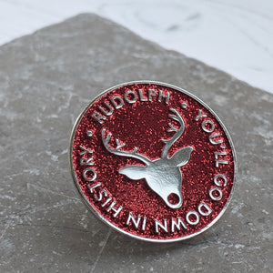 Rudolph Enamel Christmas Pin - The Treasured
