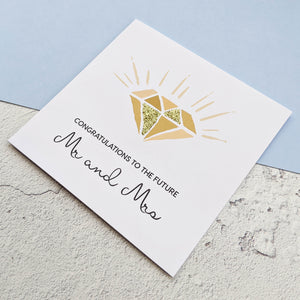 Glitter Diamond Engagement Card - The Treasured