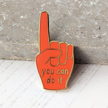 'You Can Do It' Positive Enamel Hand Pin - The Treasured