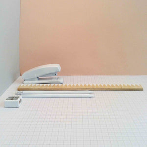 Zig Zag 30cm Ruler - White - The Treasured