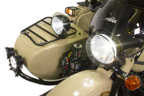 Ural Luggage Rack for Sidecar Nose Flat Black