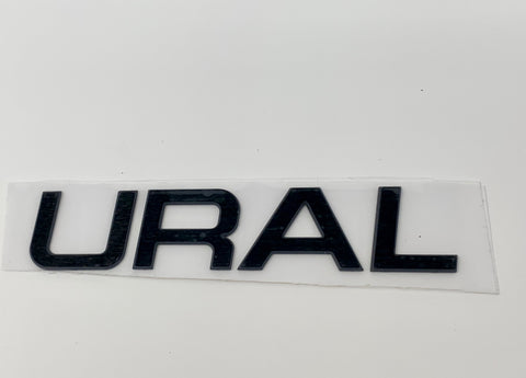 URAL Aluminum Tank Badge Black Anodized