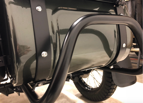 Ural Sidecar Rear Bumper- Black