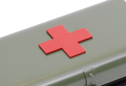 Ural Red First Aid Cross Badge - for First Aid Box