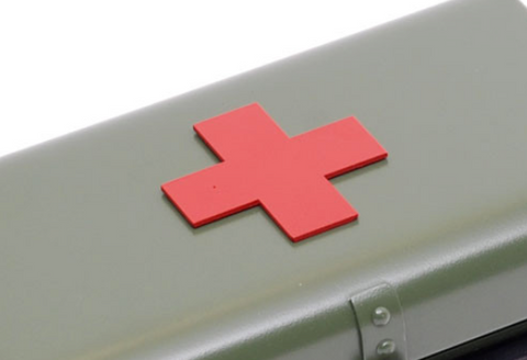 Ural First Aid Cross- Red Badge