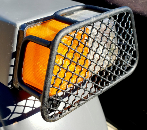 Ural Sidecar Turn Signal Rock Guard (with Wire Mesh)