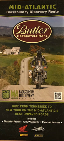 Butler Motorcycle Map - Mid-Atlantic Backcountry Discovery Route