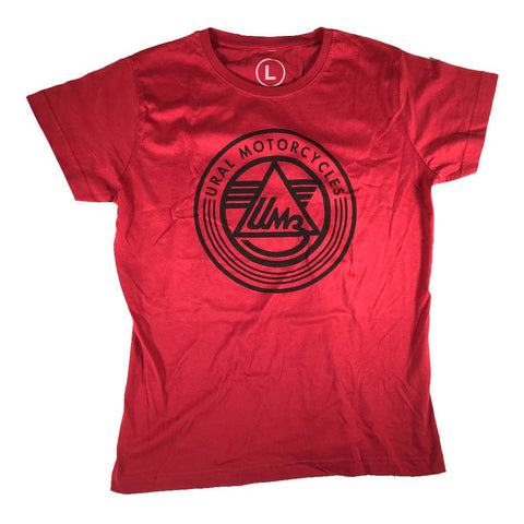 Ural T-Shirt Ladies Logo Red