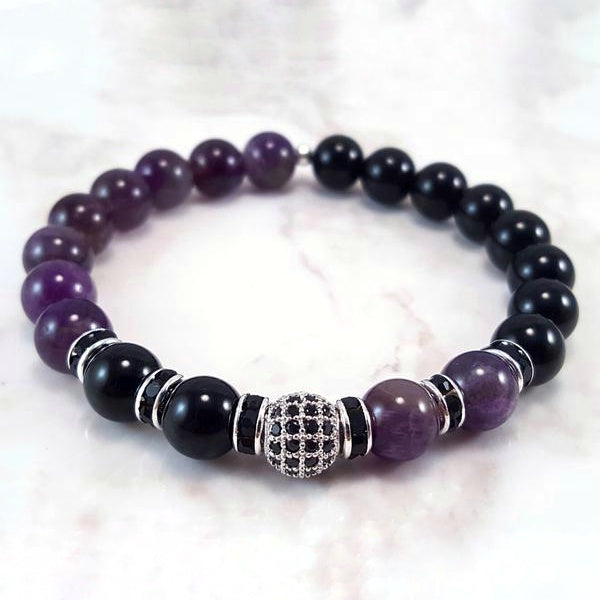 Dream Amethyst ~ Black (8mm) - Gemvius