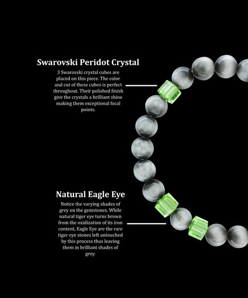 August Peridot Eagle Eye (8mm) - Gemvius