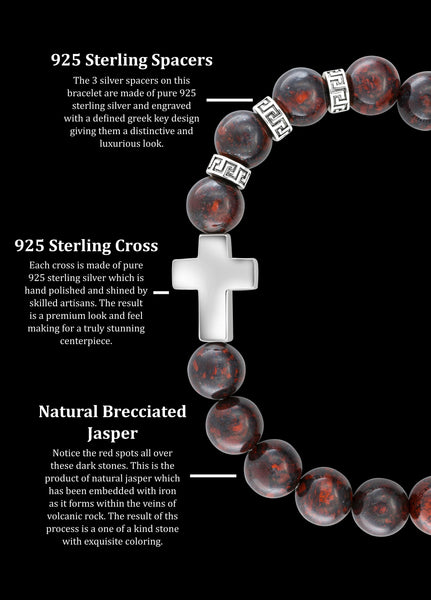 Premium Cross Brecciated Jasper (8mm) - Gemvius