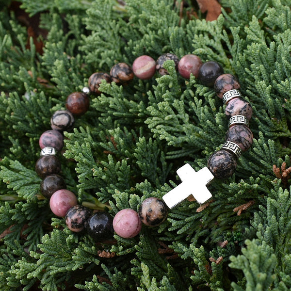 Premium Cross Rhodonite (8mm) - Gemvius
