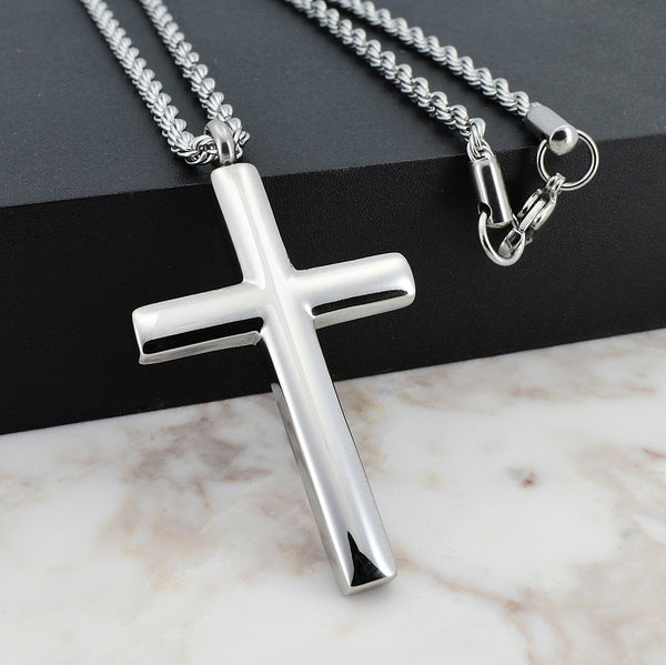 Stainless Cross Necklace - Gemvius