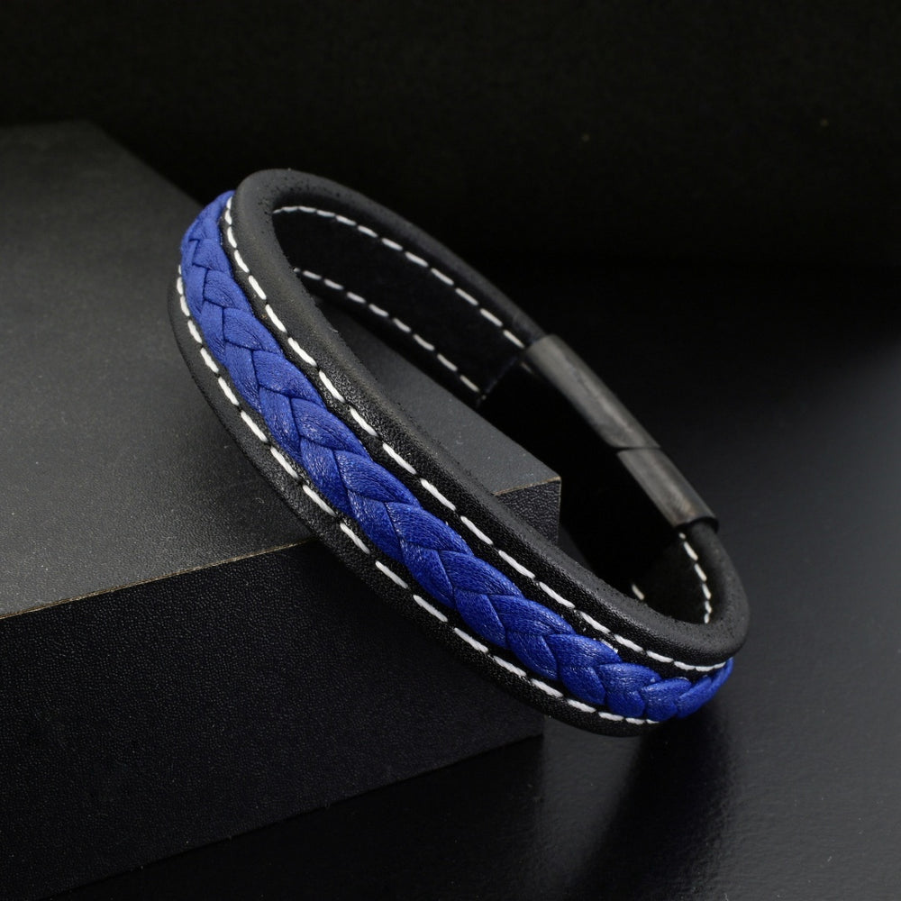 Blue & Black Leather - Gemvius