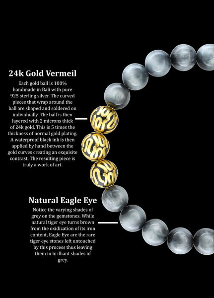 Gold Executive Eagle Eye (8mm) - Gemvius