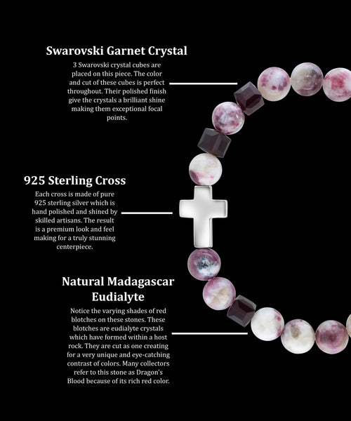 January Garnet Cross Madagascar Eudialyte (8mm)