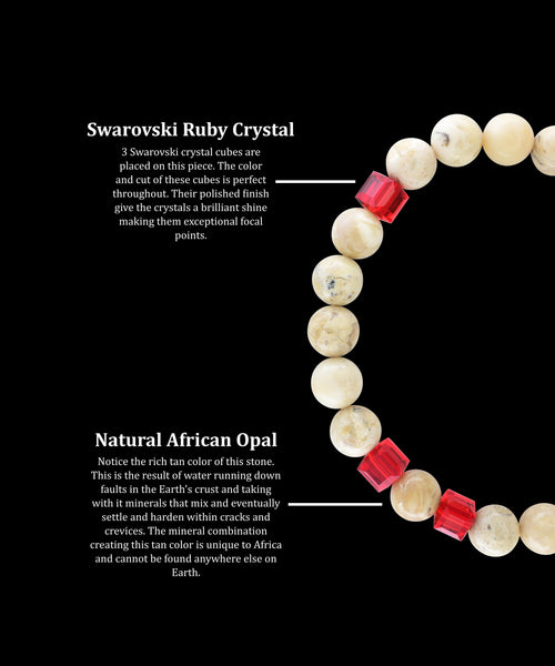 July Ruby African Opal (8mm) - Gemvius