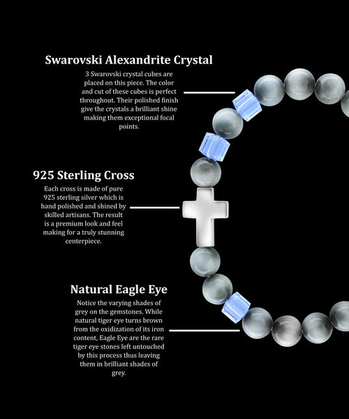 June Alexandrite Cross Eagle Eye (8mm) - Gemvius