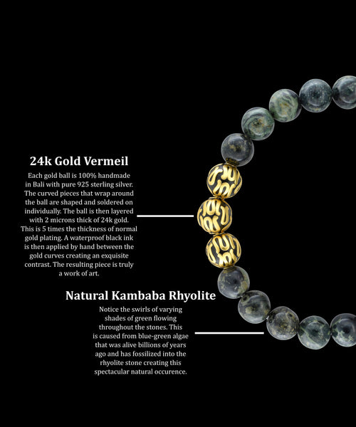 Gold Executive Kambaba Rhyolite (8mm) - Gemvius