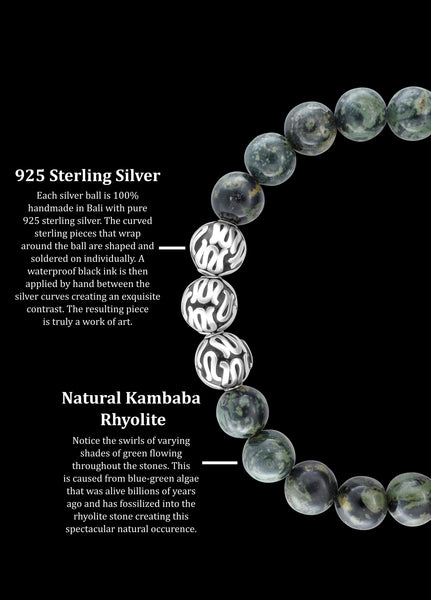 Silver Executive Kambaba Rhyolite (8mm) - Gemvius