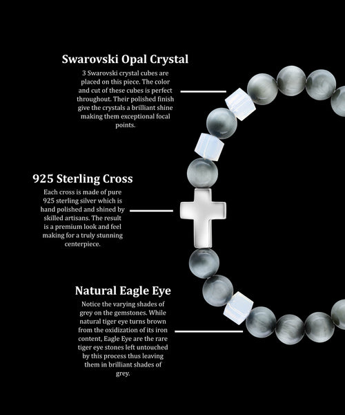 October Opal Cross Eagle Eye (8mm)