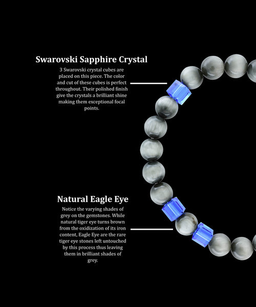 September Sapphire Eagle Eye (8mm)