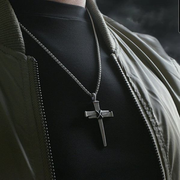 Stainless Nail Cross Necklace