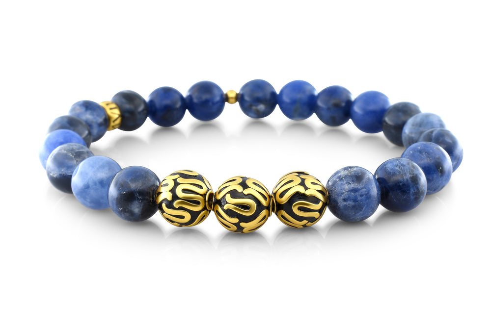 Gold Executive Sodalite (8mm) - Gemvius