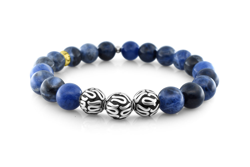 Silver Executive Sodalite (8mm) - Gemvius