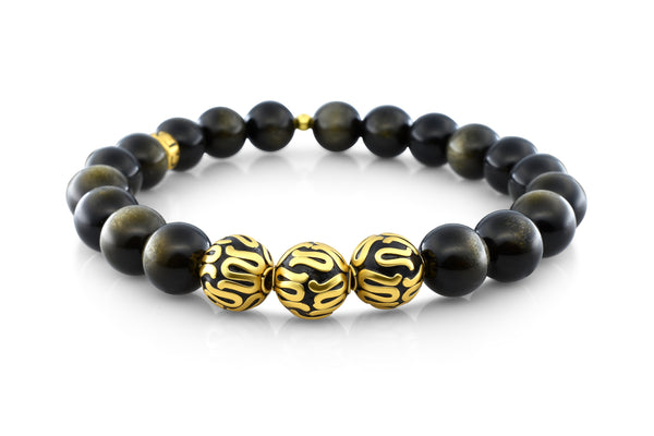 Gold Executive Gold Obsidian (8mm) - Gemvius