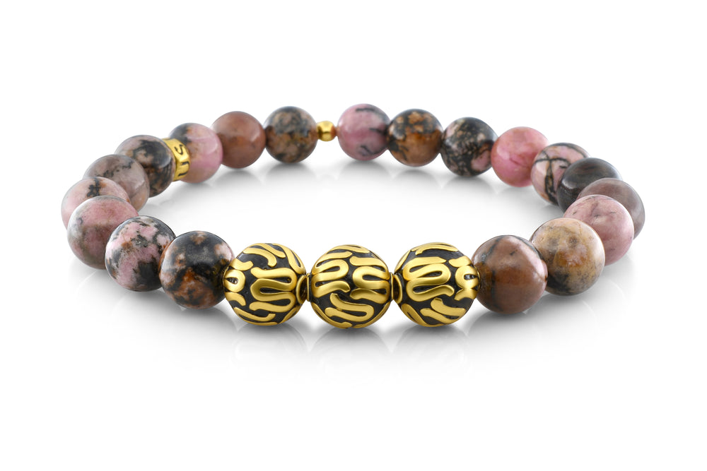 Gold Executive Rhodonite (8mm) - Gemvius