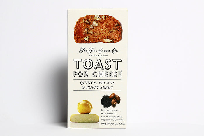 TOAST FOR CHEESE; QUINCE, PECANS & POPPY SEEDS